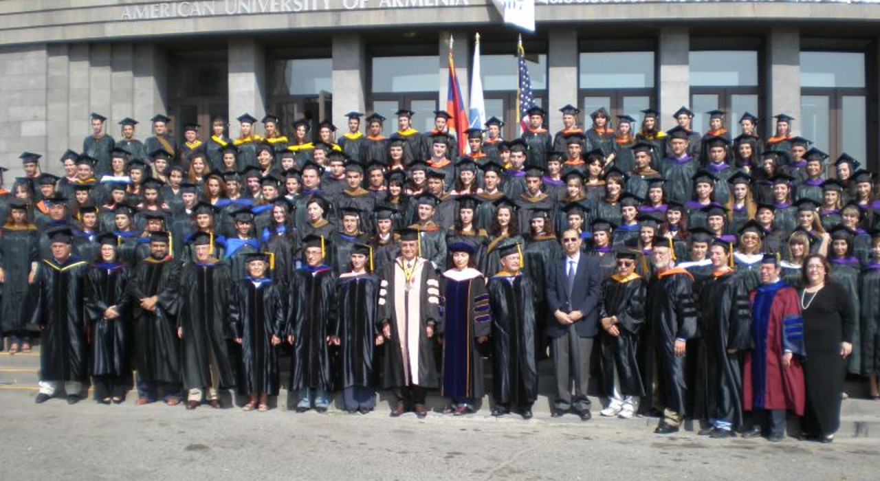 Graduation at the American Univ. of Armenia