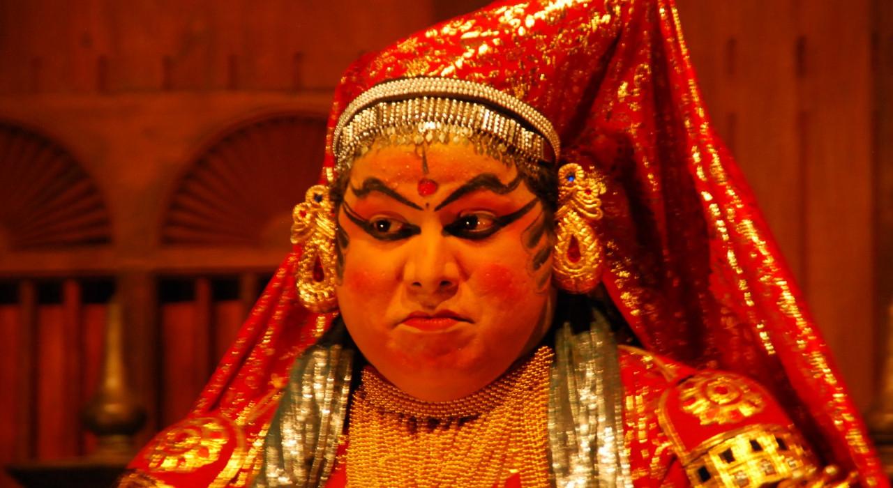 Minukku - a Kathakali character